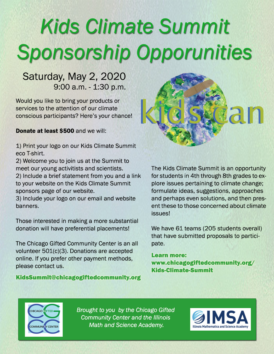 Sponsorship Opportunities Flyer